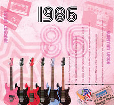 31st Birthday or Anniversary Gift - 1986 Compilation Music CD and Greetings Card