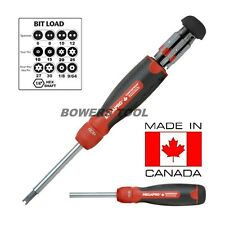 Megapro Tamperproof Ratcheting 13-1 Multi Bit Screwdriver Phillip Torx Square
