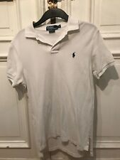 Polo by Ralph Lauren Poloshirt Polo Shirt weiß Gr. S Custom Fit 100% Baumwolle