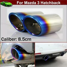 2Pcs Blue Stainless Steel Exhaust Muffler Tail Pipe Tip Tailpipe Custom Fit For Mazda 6 Sedan 2014-2018