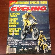POPULAR CYCLING AUGUST 1978 250cc MOTOCROSS SPECIAL RM250 TONY D  VINTAGE AHRMA