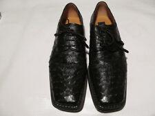 Mens Mezlan Black Ostrich dress shoes Sz 12M