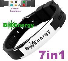 TITANIUM Magnetic Energy Armband Power Bracelet Health Bio 7in1 Bio Black 25690