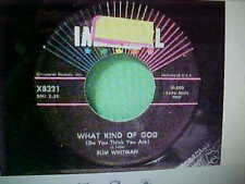 SLIM WHITMAN 45 A TREE IN THE MEADOW / WHAT KIND OF GOD