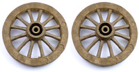 "2 x 115mm (4 1/2"") Brown Plastic Cart Wheels For Models"