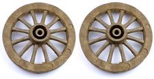 """2 x 115mm (4 1/2"""") in plastica marrone ruote del carrello per i modelli"""
