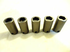 Magnetic Sockets, 5 pcs, 3/8� Drive X 12mm Hex, Hanson, Usa, New-Other.