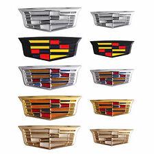 2x Cadillac Emblem Car Fender Door Badge for ATS CTS SRX DTS XT4 CT5 Escalade