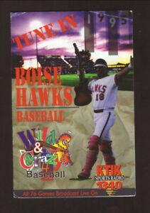 Boise Hawks--1995 Pocket Schedule--Coors Light--Angels Affiliate