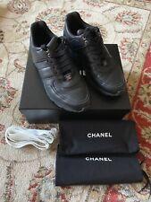 Chanel Trainers VGC Black Tweed/Lambskin UK7 EUR40
