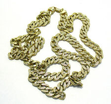 14K GOLD OVER STERLING SILVER CHAIN NECKLACE 50 CARATS CLEAR STONES 139 GRAMS