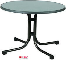 Acamp Gartentisch Piazza Basic 100 cm Rund Tisch Bistro Klappbar Sevelit Platte