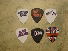 Rock band  SINGLE SIDED PICTURE GUITAR PICKS  Set of 6