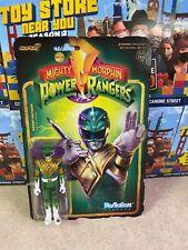 "2021 Super7 ReAction Power Ranger GREEN RANGER Battle Damaged 4"" Inch Figure MOC"