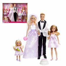 Hochzeitsset | Barbie Puppe | mit Ken, Stacie & Chelsea | Mattel DJR88