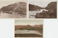 3 VINTAGE POSTCARDS OF LOCH KATRINE PERTHSHIRE UNPOSTED