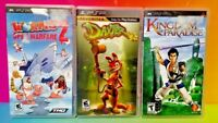 Daxter Worms 2 Kingdom of Paradise - Sony PSP Playstation Portable Kids Game Lot