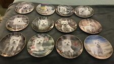 Danbury Mint West Highland Terriers Collector Plates - Complete Set of 12
