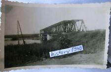 Foto mit Brücke über die Warthe oder Weichsel in Polen.(B)