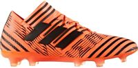 Adidas Nemeziz 17.1 Mens Football Boots Firm Ground Black Orange Soccer Shoes