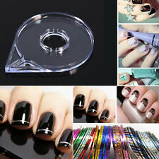 6Pcs/Set Nail Art Design DIY Striping Tape Line Case Tool Sticker Box Holder JS