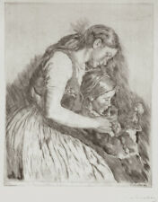 A beautiful original etching by Hungarian artist Istvan Prihoda, pencil signed