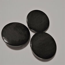 5 Große XL Acryl Knöpfe *Schwarz* 3,3cm/33mm Mantel-Knopf Ösenknopf Glänzend