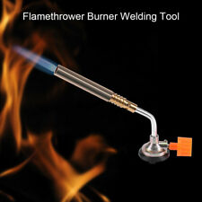 Flamethrower Burner Butane Gas Blow Torch Ignition Camping Welding BBQ Tool SG