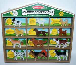 MELISSA & DOUG CANINE COMPANIONS 12 Collectible Removable Dog Breeds & House NEW