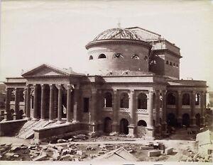 Palermo Sicily Theater Massimo in construction Original photo Sommer 1890c L788