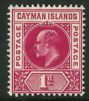 Cayman Islands 1905 carmine 1d multi-crown mint SG9