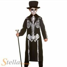 Boys Day Of The Dead Skeleton Costume Halloween Child Fancy Dress Outfit