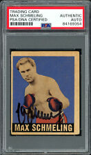 Max Schmeling Autographed Signed 1948 Leaf Rookie Card #32 PSA/DNA 84169354