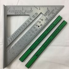 "SPEED SQUARE ROOFING RAFTER ANGLE TRIANGLE GUIDE QUICK MEASURE 6""2xgreen pencils"