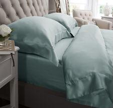 Jasmine Silk 4PCs 100% Charmeuse Silk Duvet Cover Set (Duck egg) DOUBLE