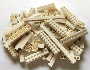 LEGO® Basic 80 Stück Bausteine in weiß 1x1-1x16 2x2-2x10 Konvolut