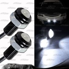 1x Pair White LED DRL 12V 3W Eagle Eye Daytime Running Light Lamps Universal 4
