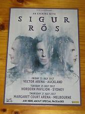 SIGUR ROS - 2017 Australia Tour - Laminated Promotional Poster