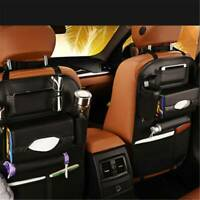 Car Seat Back Multi-Pocket Leather Black Storage Bag Organizer Holder Accessory