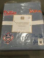 Pottery Barn Teen Twin Duvet Cover MLB Major League Baseball Organic Cotton New