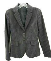 Theory Women's Black Carissa Classic Pinstripe Suit Jacket I0701111 Size 0