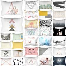 30*50cm Rectangle Pillow Case Cushion Cover Bed Waist Throw PillowCase Decor