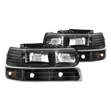 Spyder Crystal Headlights-Black For 99-06 ChevySilverado/Suburban/Tahoe #5064219