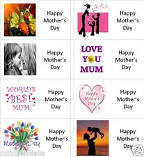 40 x Happy Mothers Day (b) labels/stickers cakes/sweets/gift bags/presents