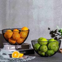 Metal Wire Fruit Vegetable Snack Tray Bowl Basket Kitchen Storage Rack Holder UK