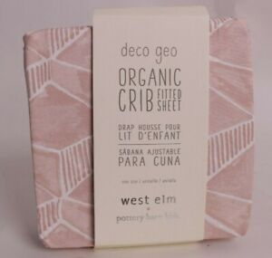 NWT Pottery Barn Kids x west elm crib fitted sheet, pink
