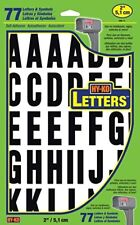 """New Hy-Ko Mm-7L Black & White 2"""" Letters Stick On Adhesive 61Pc 6635668"""