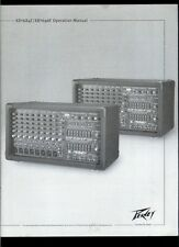 Peavey XR 684F/696F Powered Mixer Amplifier Rare Orig Factory Owner's Manual