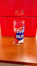 COCA COLA FOOTBALL WORLD CUP 2018 COLLECTIBLE GLASS - RUSSIA - RARE!!