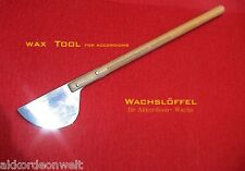 Wachslöffel für Akkordeon Wachs Rep.,colher, cuchara de cera, accordion Wax Tool